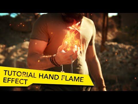 Epic Scifi Hand Flames -  After Effects Tutorial!
