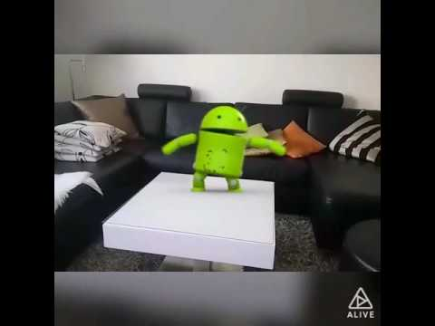 Crazy dancing android robot