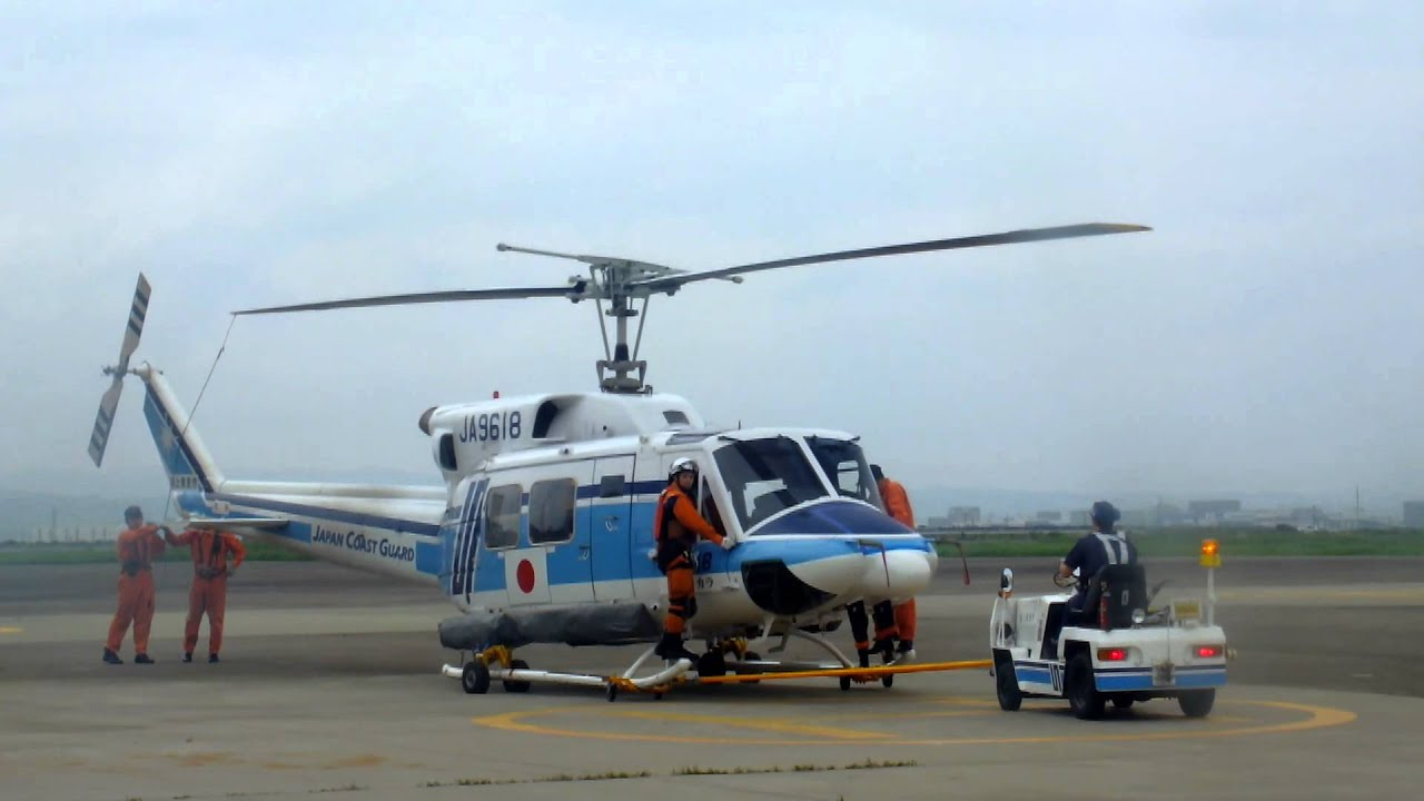 海上保安庁 ベル212 救助訓練@...