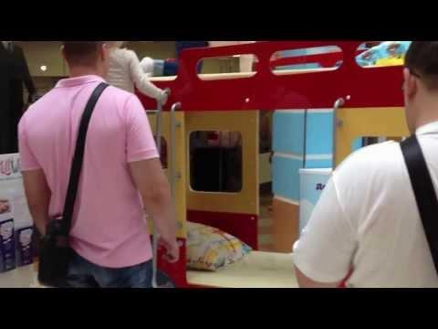 Ролик 2-х ярусная кровать-автобус от Milli Willi