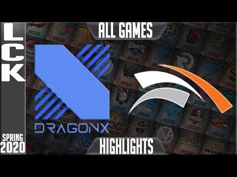 DRX vs HLE Highlights ALL GAMES   LCK Spring 2020 W2D2   DragonX vs Hanwha Life Esports