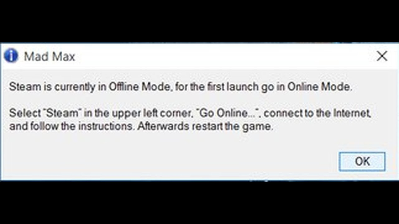 Mad Max Steam оффлайн - решение