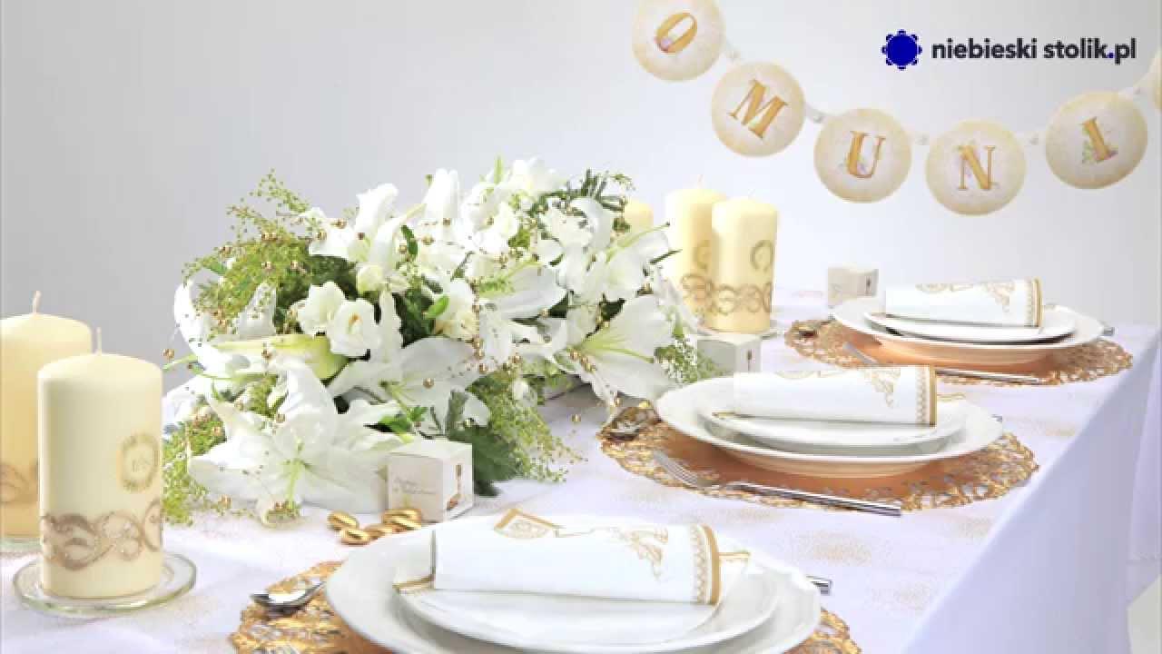 fa85d33c0d Dekoracje stołu restauracji na Komunię Św.-