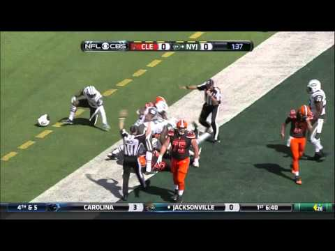 Josh McCown Helicopter hurdle