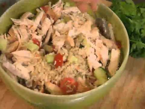 How to make Low GI Chicken with a brown rice salad with Justine Drake