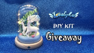 126】Deer Paradise┃DIY kit GIVEAWAY【Clay Tutorial┃Lovely4u】