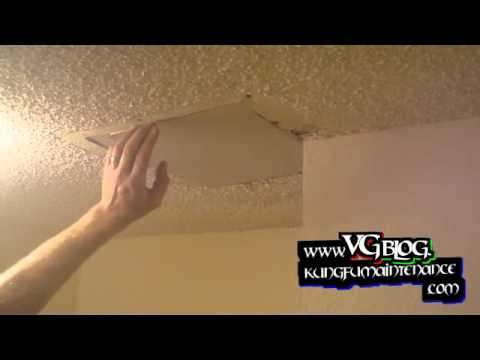Popcorn Ceiling Repairs Patching Holes In The Drywall