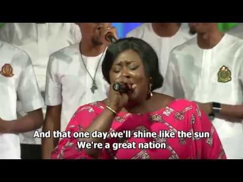 The Lagos Community Gospel Choir performing