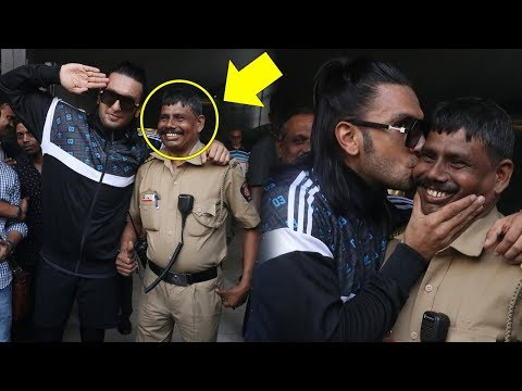 Ranveer Singh's Sweetest Gesture For Police Officer Who Was Controlling Crowd For Him Mp3