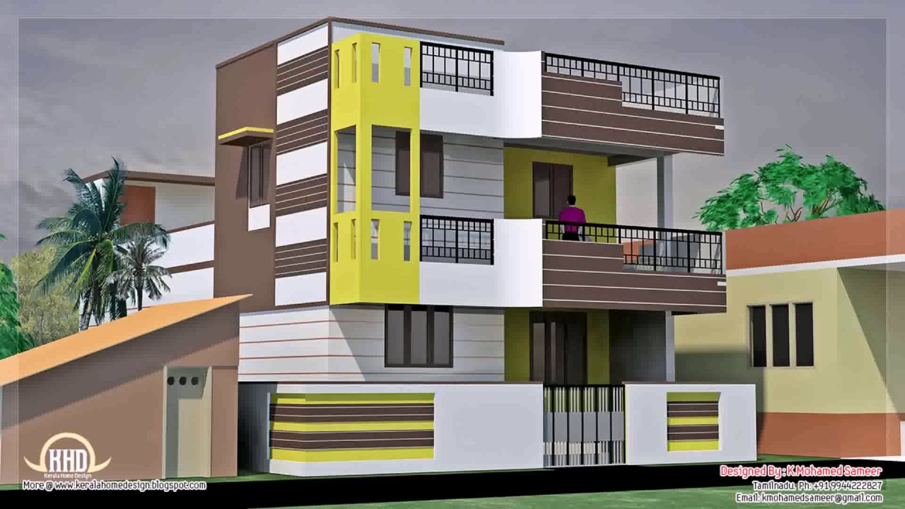 Small up and down house design in the philippines youtube for Outlook design of indian houses