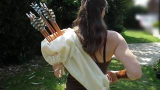 Medieval Arrow Bag As A Back Quiver, Demo