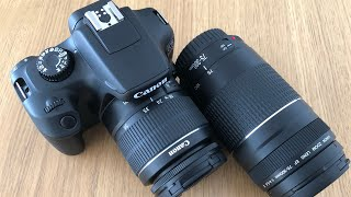 Canon EOS 4000D camera with 75-300 lens - WIFI - 18mp