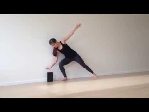 With the Wall: Ardha Chandrasana (Half Moon Pose) - YouTube