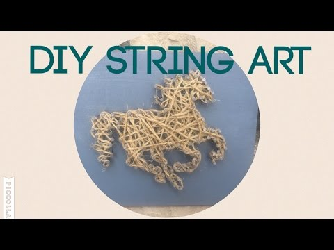DIY Craft with pre-teen: String art horse tutorial