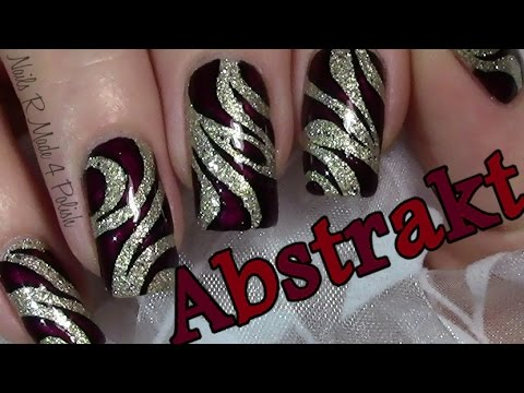 Elegant Abstraktes Nageldesign Selber Malen Nail Art Design