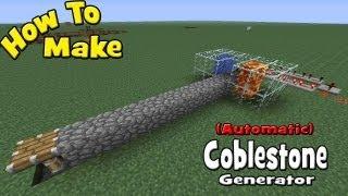 How to Make a (Automatic) Cobblestone Generator (My Design/ Tutorial)