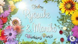 【結婚式オープニングムービー/FLOWER】カラフルでかわいいオープニング