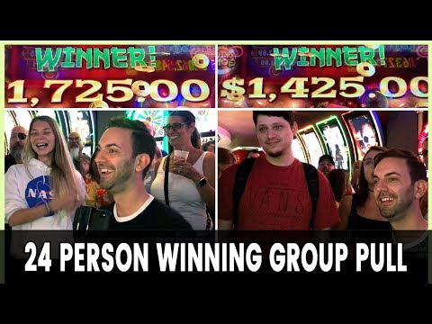 💵 $4800 ➡️ 24 Person WINNING Group Pull! 🎰 Plaza Las Vegas