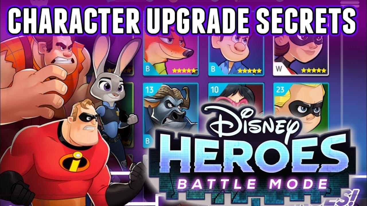 Disney Heroes Battle Mode Secrets & Tricks - Character Upgrades & VIP -  Disney Mobile
