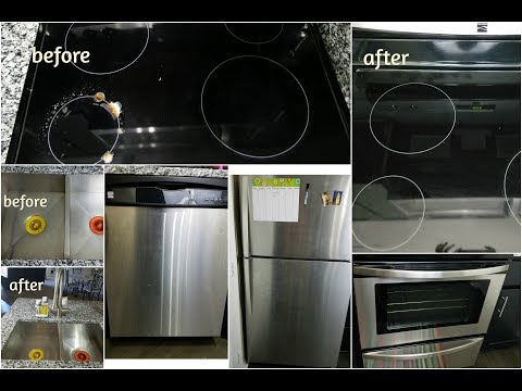 How To Clean Stainless Steel Appliances(Easy Kitchen Cleaning Ideas That Save Time)