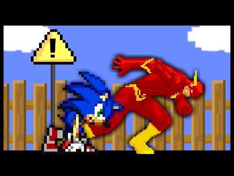 🔵Sonic vs. The Flash⚡️- EPIC RACE!! [Cartoon Animation]