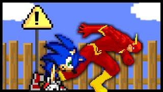 🔵Sonic vs. The Flash⚡️- EPIC FIGHT RACE!! [Cartoon Animation]
