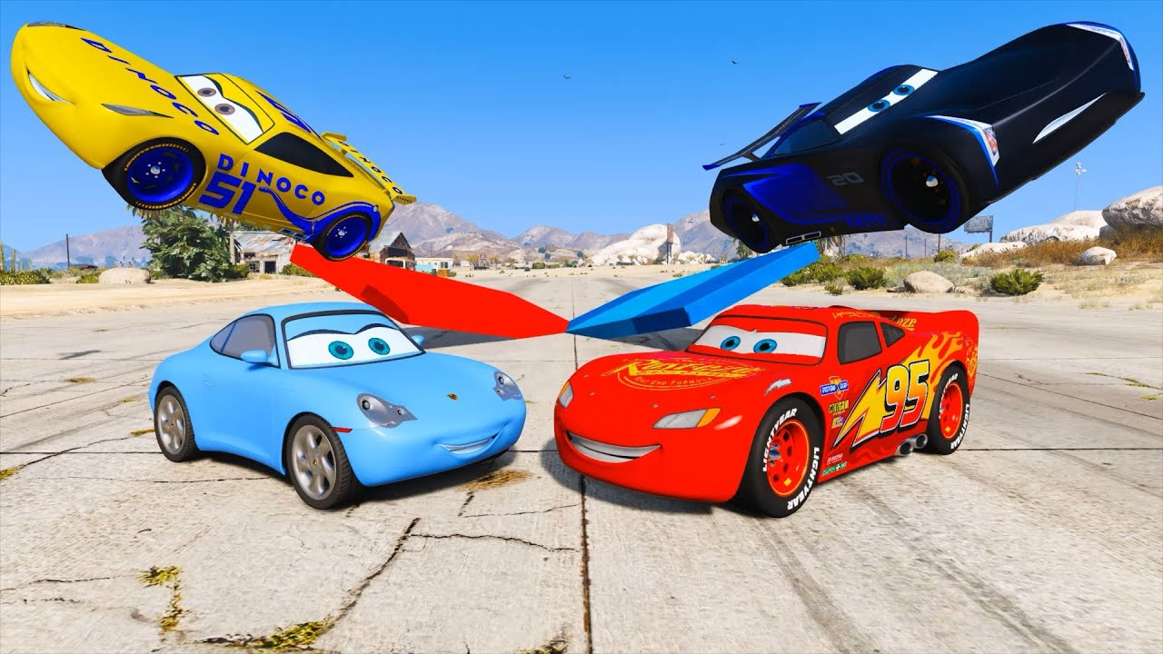 Cars 3 Sally Lightning McQueen Jackson Storm Cruz Ramirez And Friends