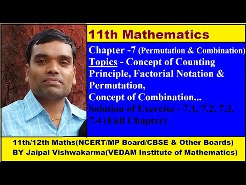 Permutation & Combination - Concept of Factorial and Permutation in