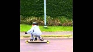 "Longboard Slide :) Kracked Skulls Scimitar 46"""