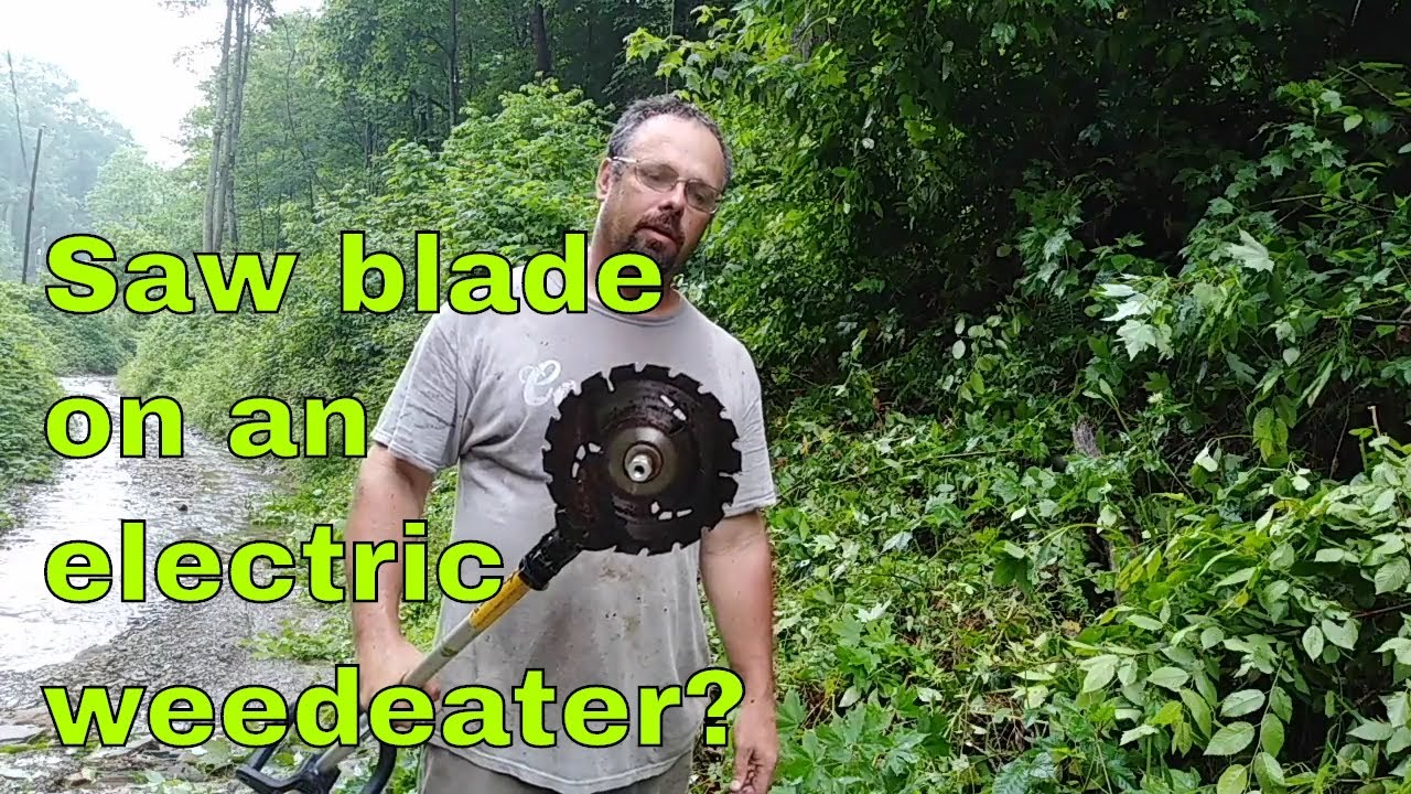 Hack to Turn a Dewalt 20 volt Weed Trimmer to a Brush Cutter
