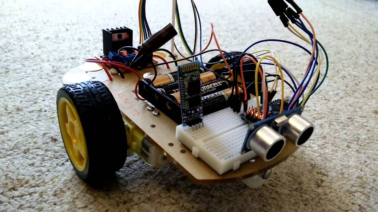 Arduino robot car with obstacle avoidance youtube