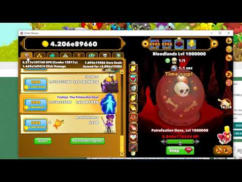 Clicker Heroes Level 1000000 - Final Boss Fight, Patch 1.0e11 [spoilers]