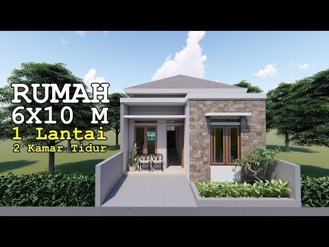 Desain Rumah Minimalis Luar Dan Dalam  rumah 6x10 m 1 lantai 2 kamar tidur youtube
