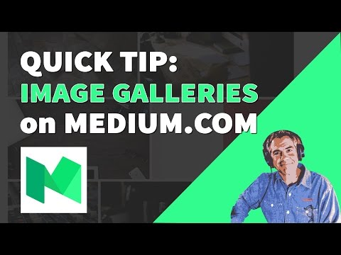 How to create an image gallery on Medium.com
