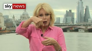 Why does Joanna Lumley use a pencil to stir her coffee?