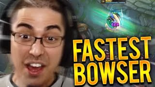 THE FASTEST BOWSER...ROLLING THROUGH THEIR BASE!!!! - Trick2G