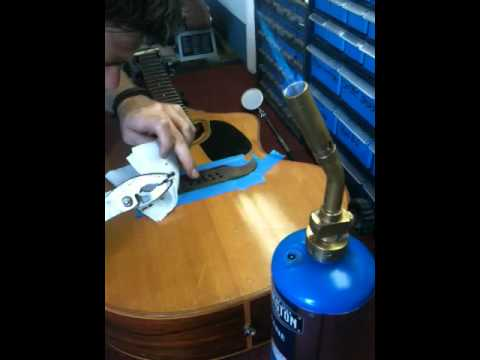 centerline luthiery using steam to remove dents from an acoustic guitar bridge youtube. Black Bedroom Furniture Sets. Home Design Ideas