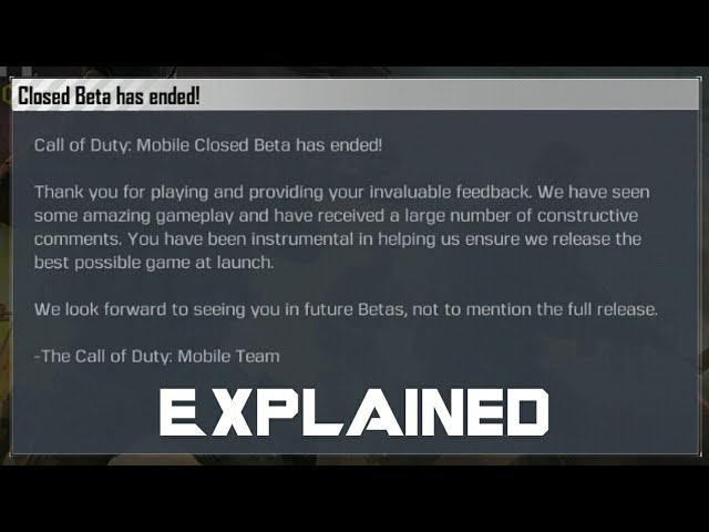 Call of Duty Mobile Closed Beta has ended! Explained in Hindi