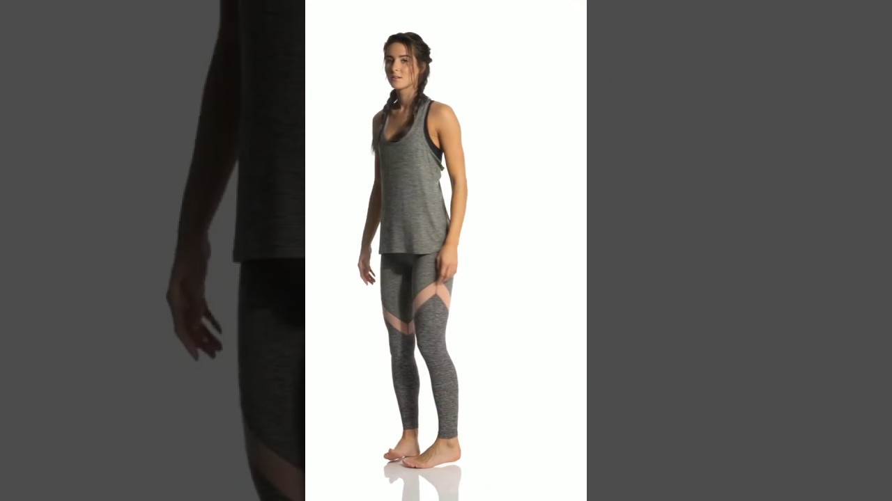 94513ab00d398 Beyond Yoga Tri-Panel Spacedye High Waisted 7/8 Yoga Leggings |  SwimOutlet.com