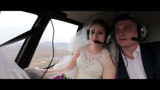 Полёт на вертолёте Robinson R44   Свадебная видеосъемка в Абакане