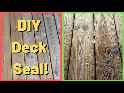 How To Paint Like a Pro | DIY Dad Deck Sealing Time Lapse Using Thompson's Water Seal