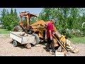 Front End Loader Converted To Log Splitter