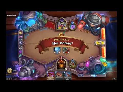 Solution Puzzle Lab Lethal: Hot Potato - Myra Rotspring (3/7), Hearthstone Boomsday