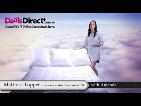 Mattress Topper QB Memory Resistant MicroBall Fill