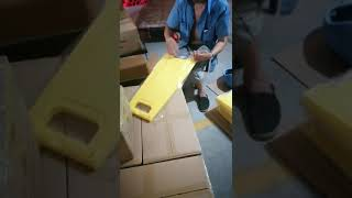 BL12 A shape 530g wet floor blank caution board packing video