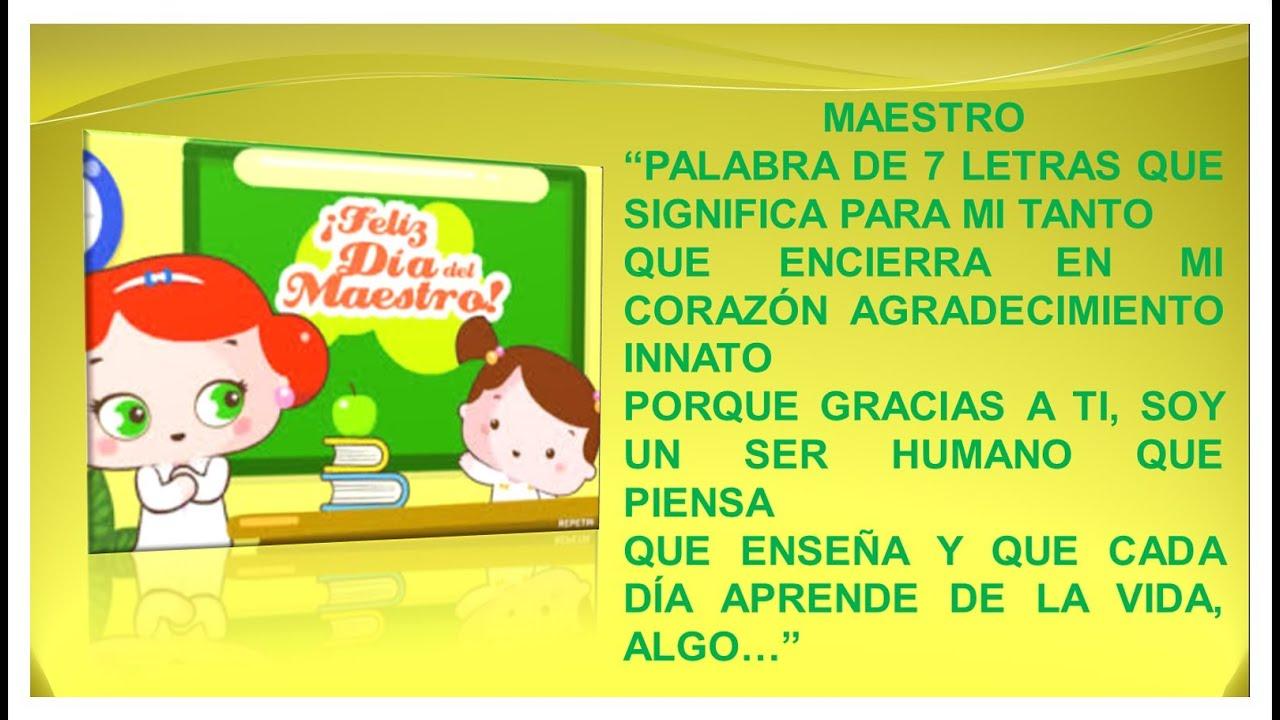 Frases Bonitas Para El Dia Del Maestro Feliz Dia Del Maestro