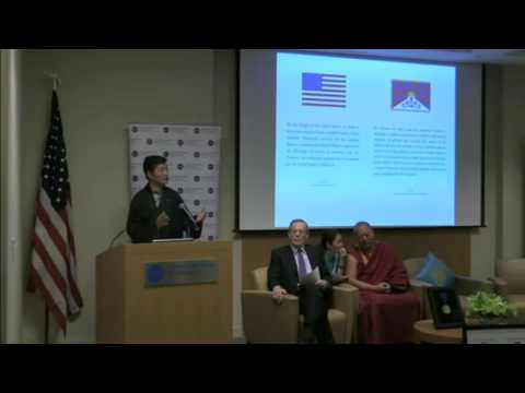 Sikyong Dr Lobsang Sangay speaking at National Endowment for Democracy