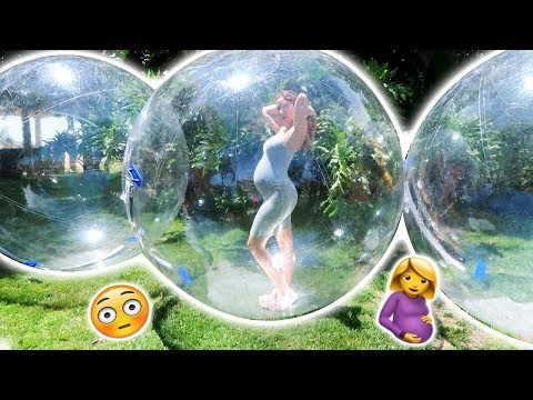 CATHERINE STUCK IN GIANT BUBBLE BALL!!! (SORRY BUT THIS IS SOMETHING WE HAD TO TRY)