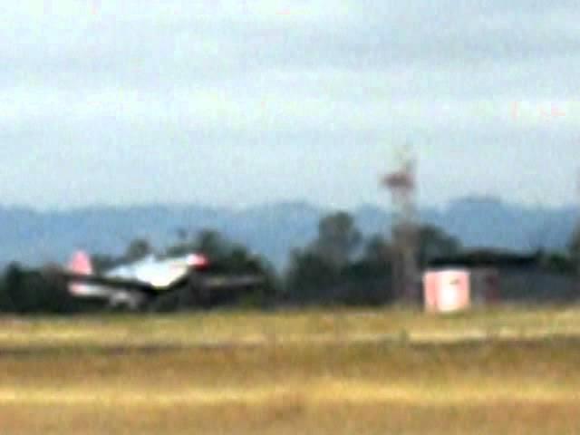 P51 taking off from Santa Rosa, CA airport, June 2011