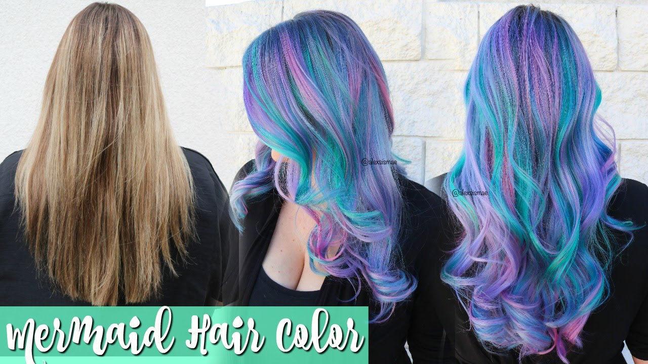 mermaid hair color transformation